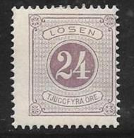 Sweden, Scott # J18 Mint Hinged Postage Due, 1886, CV$29.00, Tiny Gum Thin - Postage Due