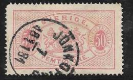 Sweden, Scott # O10 Used Official, 1874, CV$125.00, Round Corner - Service