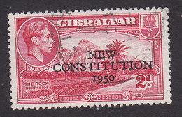 Gibraltar, Scott #127, Used, Rock Of Gibraltar Overprinted, Issued 1950 - Gibilterra
