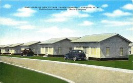 "NEW VILLAGE ""MARIE PAMPOEN"" CURACAO, N.W.I. VINTAGE POSTCARD - Postcards"