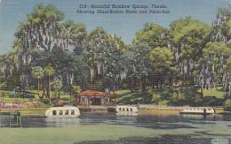 Florida Dunnellon Rainbow Springs Showing Glass Bootom Boats and