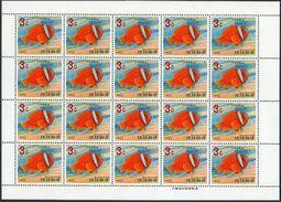 RyuKyu 151-155 Sheets,MNH.Michel 180-184 Bogens. Clown Fish 1966-1967. - Fishes