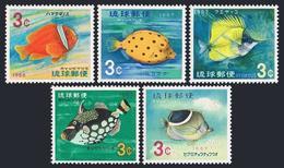 RyuKyu 151-155,MNH.Michel 180-184. Clown Fish 1966-1967. - Fishes