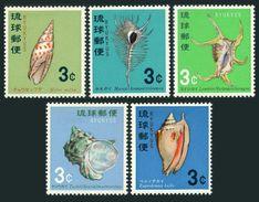 RyuKyu 157-161,MNH.Michel 186-190. Shells 1967-1968. - Coneshells