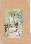 CPA COLORISEE FETE - JOYEUSES PAQUES - Enfants Jouant Sur Un Oeuf - NANT2 - - Easter