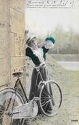 Vélo - Femme à Bicyclette - A Vous Taquiner, Je Mets Mon Bonheur... - Serie 3145/4 - Carte Vernie, Colorisée - Vrouwen