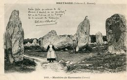 MENHIR(CARNAC) KERMARIO - Dolmen & Menhirs