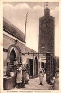 MAROC - CASABLANCA - NOUVELLE MEDINA  FONTAINE ET MOSQUEE - Casablanca
