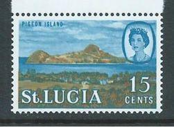 Saint Lucia 1968 15c Pigeon Island Definitive Sideways Watermark MNH - St.Lucia (1979-...)