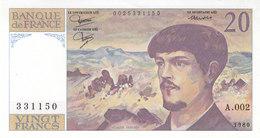 RARE Billet 20 F Debussy 1980 FAY 66.1 Alph. A.002 P/NEUF N° 331150 - 1962-1997 ''Francs''