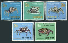 RyuKyu 173-177,lightly Hinged.Michel 202-206. Crabs 1968-1969. - Crustaceans