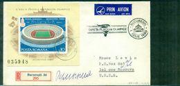 ROUMANIE . JO MOSCOU 1980 BF N° 139 S/LET REC Arrivée Moscou Tb. - Marcofilia