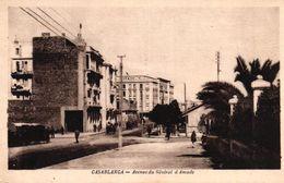 MAROC - CASABLANCA - AVENUE DU GENERAL D'AMADE - Casablanca