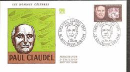 FDC 1968  PAUL CLAUDEL - FDC