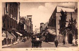 MAROC - CASABLANCA - RUE DE L'HORLOGE - Casablanca