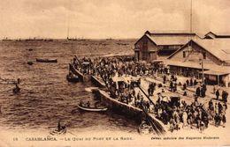 MAROC - CASABLANCA - LE QUAI DU PORT ET LA RADE - Casablanca