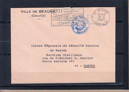"""Secap """" Les P.T.T. Vous Offrent..."""" Sur Lettre De 21 BEAUNE Cote D'or Le 18 9 1969  De La VILLE De BEAUNE - Postmark Collection (Covers)"""