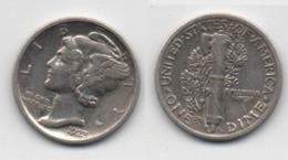 + 1 DIME 1923 + - 1916-1945: Mercury (Mercurio)