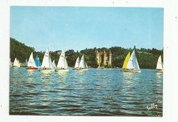 Cp , Bateaux , Voiliers , Château De VAL , 15 , LANOBRE , Sur Le Lac Du Barrage De BORT LES ORGUES , Vierge - Voiliers