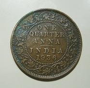 British India 1/4 Anna 1936 - India