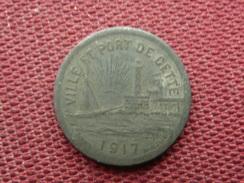 FRANCE Jeton Ville De CETTE 1917 / 1920 - Monetary / Of Necessity