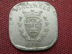 FRANCE Jeton VINCENNES 1917 - Monedas / De Necesidad