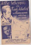 (GB19) Lettre Retrouvée De Frantz Schubert ,  FRED HEBERT , Musique ALBERT CHATRIER Illustrateur WURTH - Noten & Partituren