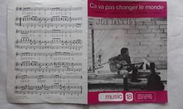 Partition JOE DASSIN - Ca Va Pas Changer Le Monde 1975 - 21.5 X 27.5 Cm - Autres