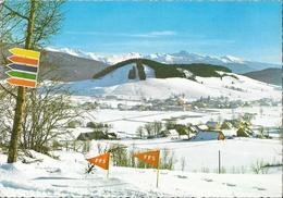Carte Publicitaire Tybraïne (Laboratoire Ana), Jeux Olympiques D'hiver Grenoble 1968: Autrans, Vue Générale, Ski De Fond - Publicités