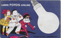 -- LAMPE FOTOS OPALINE - FABRICATION GRAMMONT - ELECTRICITE - Pubblicitari