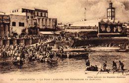MAROC - CASABLANCA - LE PORT ARRIVEE DES VOYAGEURS EN BARCASSE - Casablanca