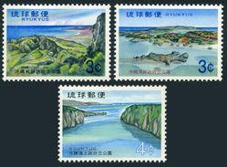 RyuKyu 217-219,MNH.Michel 245,246,252.Mabuni Hill,Mt.Arashi,Yabuchi Island.1971. - Holidays & Tourism