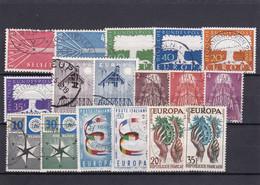 Europa Cept, Kpl. Jahrgang 1957, Gest. - Europa-CEPT