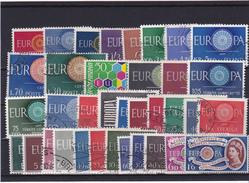 Europa Cept, Kpl. Jahrgang 1960, Gest. - Europa-CEPT