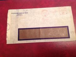Stockholm Enskilda Bank Pour Genève Censure WWII Geoffnet - Other