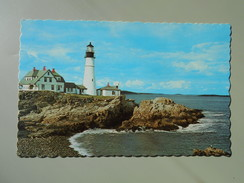 ETATS-UNIS ME MAINE PORTLAND HEAD LIGHT FIRST LIGHTHOUSE ERECTED BY THE UNITED STATES OF AMERICA - Portland