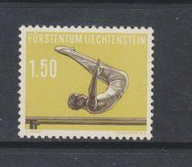Yvert 318 ** Neuf Sans Charnière Sport Gymnastique - Liechtenstein