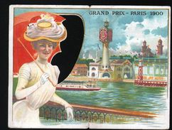 Biscuits Lefevre Utile, Calendrier Chromo: Grand Prix Paris 1900 - Calendars