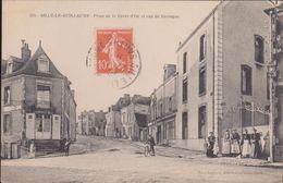 72-SILLE-LE-GUILLAUME-Place De La Croix D'Or Et Rue De Bretagne...1910  Animé - Sille Le Guillaume