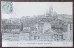 Paris N°8 - Panorama De La Butte Montmartre - Timbre YT N°111 - Cachet 1907 - France