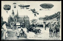 Hungary, Slovakia  KASSA Ca 1910 In The Future Montage Vintage Picture Postcard - Slovakia