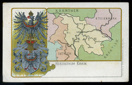 AUSTRIA   SLOVENIA Krain Litho, Map, Vintage Picture Postcard 1899 - Slovénie