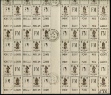 Lot N°3911 France  Franchise Militaire N°10A Feuille Pour Conf. De Carnet Neuf  ** LUXE - Franchise Militaire (timbres)