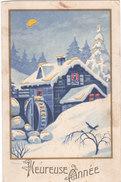 Carte Postale Ancienne -  à Placer Contre La Lumière - Heureuse Année - Controluce