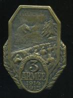 I.VH K.u.K.  3. Armée , Sapkajelvény, Szép állapotban  /  WW I. K.u.K.  3. Armée, Hat Pin In Nice Condition - 1914-18