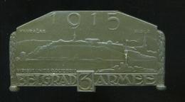 I.VH K.u.K. Belgrad 3. Armée , Sapkajelvény, Szép állapotban  /  WW I. K.u.K. Belgrade 3. Armée, Hat Pin In Nice C - Army