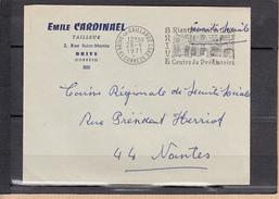 """4 Secap """" BRIVE Centre De  ..."""" Sur Lettre De BRIVE LA GAILLARDE Correze Avec ENTETES DIFFERENTES 1965 68 71 - Mechanical Postmarks (Other)"""