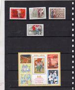 Russie 1972 - Serie 50 Eme Anniversaire De L'union De L'organisation Lénine  Et Bf ** - Unused Stamps