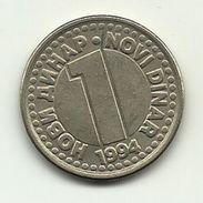 1994 - Jugoslavia 1 Novi Dinar, - Jugoslavia