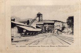 ALAIS /ALES//MINES DE  ROCHEBELLE DESCENTE  DES PUITS - Alès